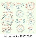 ceylon tea pure organic.green ... | Shutterstock .eps vector #513090283