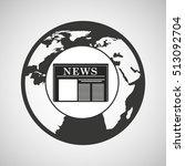 globe news concept icon graphic ... | Shutterstock .eps vector #513092704