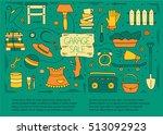 garage sale  household used...   Shutterstock .eps vector #513092923
