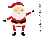 happy waving santa claus | Shutterstock .eps vector #513094384