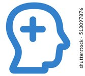 positive thinking glyph icon.... | Shutterstock . vector #513097876