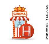 cinema movie ticket office.... | Shutterstock .eps vector #513100528