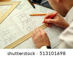 architect workplace  ... | Shutterstock . vector #513101698