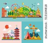 modern flat design conceptual... | Shutterstock .eps vector #513104818
