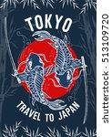travel to japan  tokyo poster ... | Shutterstock .eps vector #513109720
