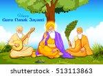 illustration of happy guru... | Shutterstock .eps vector #513113863