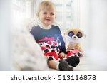emotions of the little girl... | Shutterstock . vector #513116878
