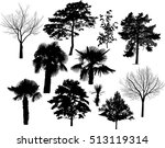 illustration with eleven tree... | Shutterstock .eps vector #513119314