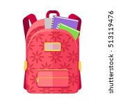 rred backpack schoolbag icon in ... | Shutterstock .eps vector #513119476