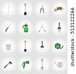 gardening tools flat icons... | Shutterstock . vector #513122266
