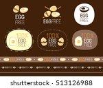 vector egg free  sign set | Shutterstock .eps vector #513126988