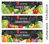 veggies of farmer market.... | Shutterstock .eps vector #513130114