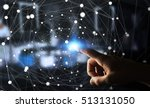 businessman on blurred... | Shutterstock . vector #513131050