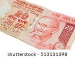 A Twenty Rupee Note  Indian...
