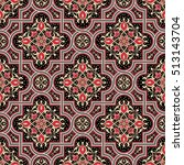floral vector oriental pattern... | Shutterstock .eps vector #513143704