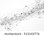 abstract technology futuristic... | Shutterstock .eps vector #513143776