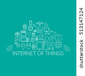 internet of things and smart... | Shutterstock .eps vector #513147124
