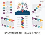 set with infographics. data and ... | Shutterstock .eps vector #513147544
