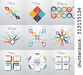 set with infographics. data and ... | Shutterstock .eps vector #513155134