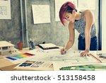 design studio architect... | Shutterstock . vector #513158458