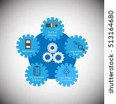 illustration of software... | Shutterstock .eps vector #513164680
