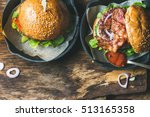 close up of homemade beef... | Shutterstock . vector #513165358