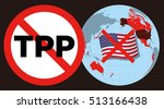collapse of tpp trans pacific... | Shutterstock .eps vector #513166438