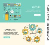 team skills and business... | Shutterstock .eps vector #513171043