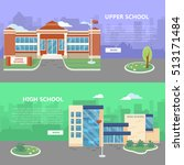 upper and high school web... | Shutterstock .eps vector #513171484