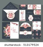 big set of invitation cards for ... | Shutterstock .eps vector #513179524