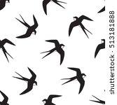 swallow bird pattern  | Shutterstock .eps vector #513181888
