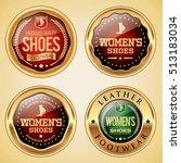women's shoes badges | Shutterstock .eps vector #513183034