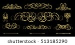 vintage flourish decor elements ... | Shutterstock .eps vector #513185290