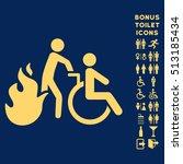 fire patient evacuation icon... | Shutterstock .eps vector #513185434