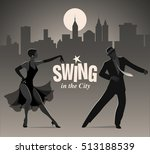 swing in the city  elegant... | Shutterstock .eps vector #513188539