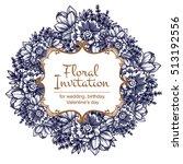 vintage delicate invitation... | Shutterstock . vector #513192556