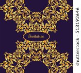 gold ornamental card with... | Shutterstock .eps vector #513192646