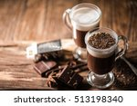 Irish Coffee With Grated Dark...