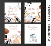 four vertical cosmetic banners... | Shutterstock . vector #513200860