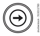 arrow icon vector. flat design.