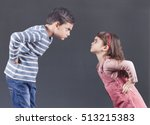 brother and sister having an... | Shutterstock . vector #513215383