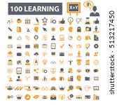 learning icons | Shutterstock .eps vector #513217450