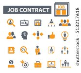 job contract icons | Shutterstock .eps vector #513217618