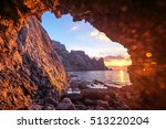 black sea landscape in crimea | Shutterstock . vector #513220204