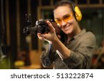 shooting at the shooting range...   Shutterstock . vector #513222874