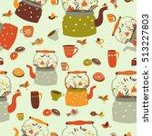 seamless pattern background... | Shutterstock .eps vector #513227803