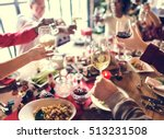 family together christmas... | Shutterstock . vector #513231508
