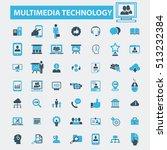 multimedia technology icons | Shutterstock .eps vector #513232384