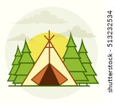 camping area | Shutterstock .eps vector #513232534