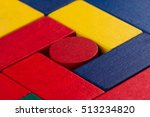 abstract color composition with ... | Shutterstock . vector #513234820